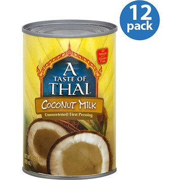 A Taste of Thai Coconut Milk, 13.5 oz, (Pack of 12)