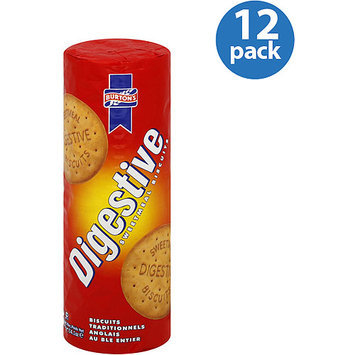 Burton's Foods Digestive Sweetmeal Biscuits, 14 oz, (Pack of 12)