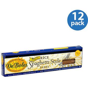 DeBoles Spaghetti-Style Rice Pasta, 8 oz (Pack of 12)