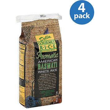 Della Gourmet Rice Aromatic American Basmati White Rice, 5 lbs, (Pack of 4)