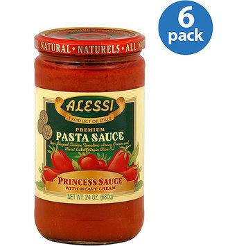 Alessi Princess Premium Pasta Sauce with Heavy Cream, 24 oz, (Pack of 6)