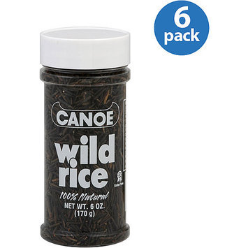 Canoe 100% Natural Wild Rice, 6 oz, (Pack of 6)