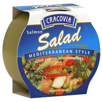 Cracovia Mediterranean Style Salmon Salad, 6.34 oz, (Pack of 12)