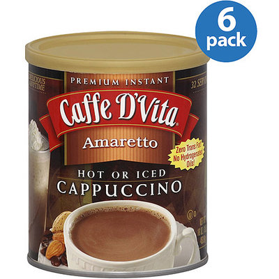Caffe D'Vita Amaretto Cappuccino Mix, 16 oz, (Pack of 6)