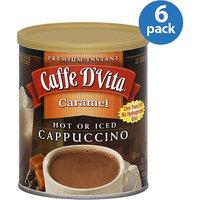 Caffe D'Vita Caramel Cappuccino Mix, 16 oz, (Pack of 6)
