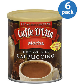 Caffe D'Vita Mocha Cappuccino Mix, 16 oz, (Pack of 6)
