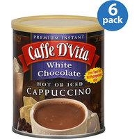 Caffe D'Vita White Chocolate Cappuccino Mix, 16 oz, (Pack of 6)