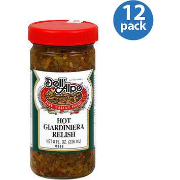 Dell Alpe Dell'Alpe Hot Giardiniera Relish, 8 fl oz, (Pack of 12)