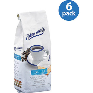 Entenmann's Vanilla Flavored Ground Coffee, 10 oz, (Pack of 6)