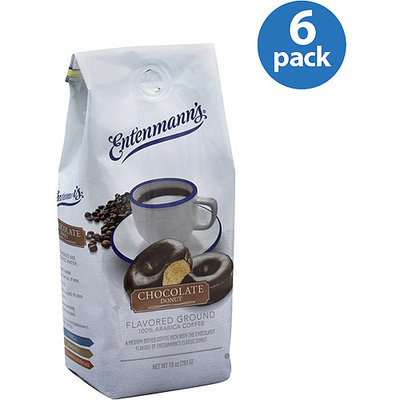 Entenmann's Chocolate Donut Flavored Ground Coffee, 10 oz, (Pack of 6)