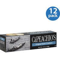 CaPeachio's Original Water Crackers, 4.4 oz (Pack of 12)