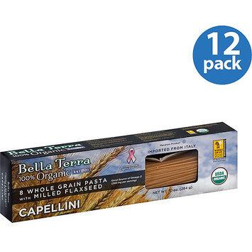 Bella Terra 100% Organic Whole-Grain Capellini Pasta, 10 oz, (Pack of 12)