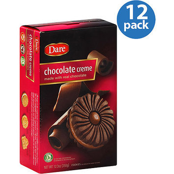 Dare Chocolate Creme Cookies, 12.3 oz, (Pack of 12)