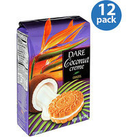 Dare Coconut Creme Cookies, 12.3 oz, (Pack of 12)