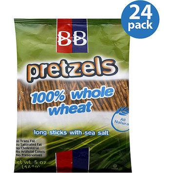 Beigel & Beigel 100% Whole Wheat Pretzel Sticks, 5 oz, (Pack of 24)