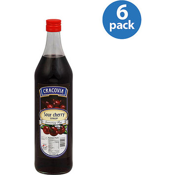 Cracovia Sour Cherry Syrup, 33.8 oz, (Pack of 6)