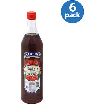 Cracovia Raspberry Syrup, 33.81 oz, (Pack of 6)