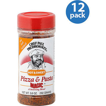Chef Paul Prudhomme's Pizza & Pasta Magic Seasoning Blend, 3.6 oz, (Pack of 12)