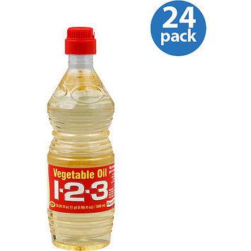 1-2-3 Vegetable Oil, 16.91 oz (Pack of 24)