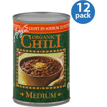 Amy's Kitchen Amy's Light in Sodium Medium Organic Chili, 14.7 oz, (Pack of 12)