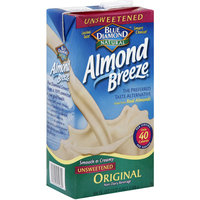 Blue Diamond Almond Breeze Unsweetened Almondmilk, 64 fl oz, (Pack of 8)