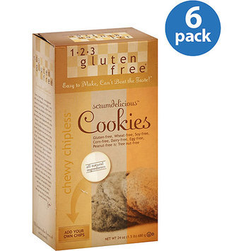 1-2-3 Gluten Free Chewy Chipless Cookie Mix, 24 oz (Pack of 6)
