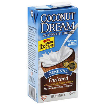 Coconut Dream Original Coconut Drink, 32 fl oz, (Pack of 12)