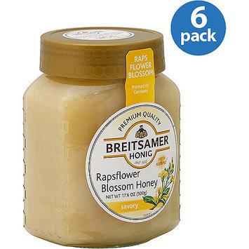 Breitsamer Honig Rapsflower Blossom Honey, 17.6 oz, (Pack of 6)