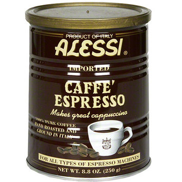 Alessi Caffe' Espresso 100% Pure Ground Coffee, 8.8 oz, (Pack of 6)