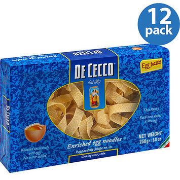 De Cecco Pappardelle Egg Pasta, 8.8 oz, (Pack of 12)