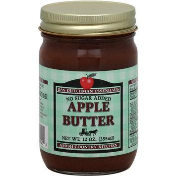 Das Dutchman Essenhaus No Sugar Added Apple Butter, 12 oz, (Pack of 12)