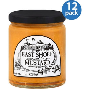 East Shore Specialty Foods Sweet and Tangy Mustard, 10 oz, (Pack of 12)