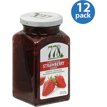 Preserves 778 Strawberry Preserve, 12 oz, (Pack of 12)