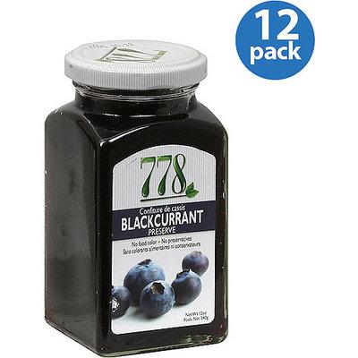 Preserves 778 Blackcurrant Preserve, 12 oz, (Pack of 12)
