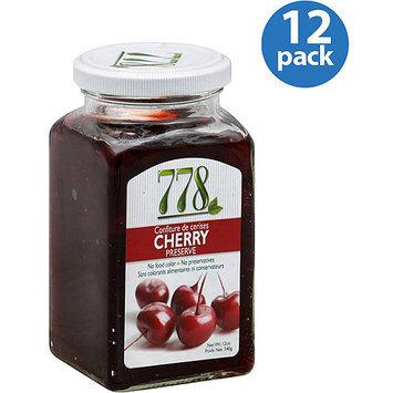 Preserves 778 Cherry Preserve, 12 oz, (Pack of 12)