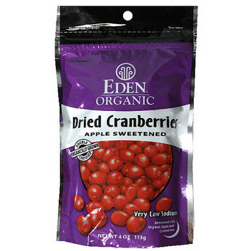 Eden Foods Organic Apple Sweetened Dried Cranberries, 4 oz, (Pack of 15)