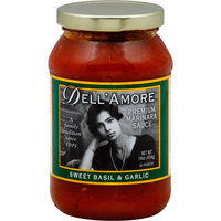 Dell'Amore Sweet Basil & Garlic Premium Marinara Sauce, 16 oz, (Pack of 12)