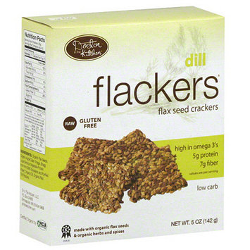 Doctor's Select Flackers Dill Flax Seed Crackers, 5 oz, (Pack of 12)