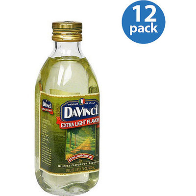 DaVinci Extra Light Flavor Olive Oil, 17 fl oz, (Pack of 12)
