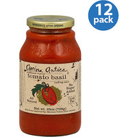 Cucina Antica Tomato Basil Cooking Sauce, 25 oz (Pack of 6)