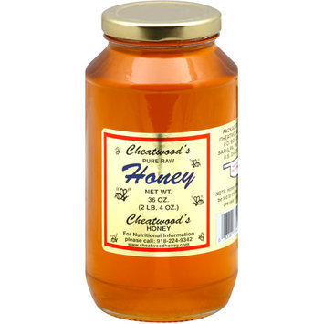Cheatwood's Pure Raw Honey, 36 oz, (Pack of 12)
