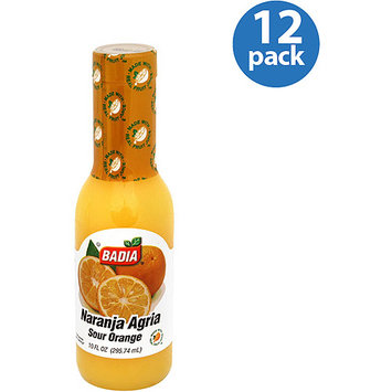 Badia Sour Orange Juice, 10 oz, (Pack of 12)