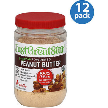 Betty Lou's Just Great Stuff Organic Powdered Peanut Butter, 6.43 oz, (Pack of 12)