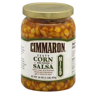 Camaronazo Cimmaron Zesty Corn and Pepper Salsa, 16 oz, (Pack of 12)