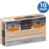 Cole's Smoked Wild Mackerel, 4.4 oz, (Pack of 10)
