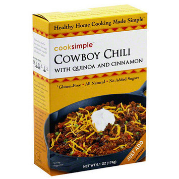 Cook Pro Cooksimple Cowboy Chili with Quinoa and Cinnamon, 6.1 oz, (Pack of 6)