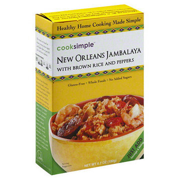 Cook Pro Cooksimple New Orleans Jambalaya with Brown Rice and Peppers, 6.7 oz, (Pack of 6)