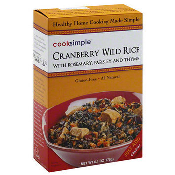 Cook Pro Cooksimple Cranberry Wild Rice with Rosemary, Parsley and Thyme, 6.1 oz, (Pack of 6)