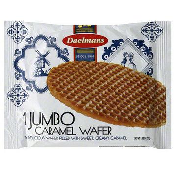 Daelias Daelmans Jumbo Caramel Wafer, 1.38 oz, (Pack of 36)