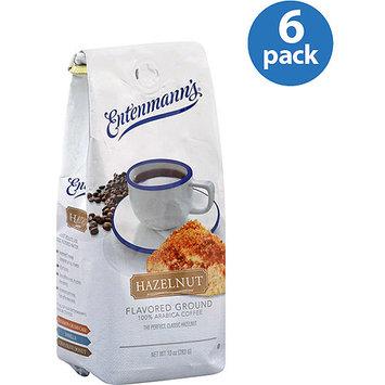 Entenmann's Hazelnut-Flavored Ground 100% Arabica Coffee, 10 oz, (Pack of 6)